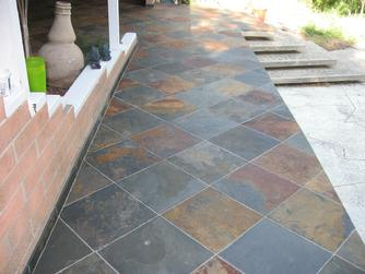 Custom Tile Installation In San Diego La Jolla Del Mar Encinitas - 18 x 24 slate tile
