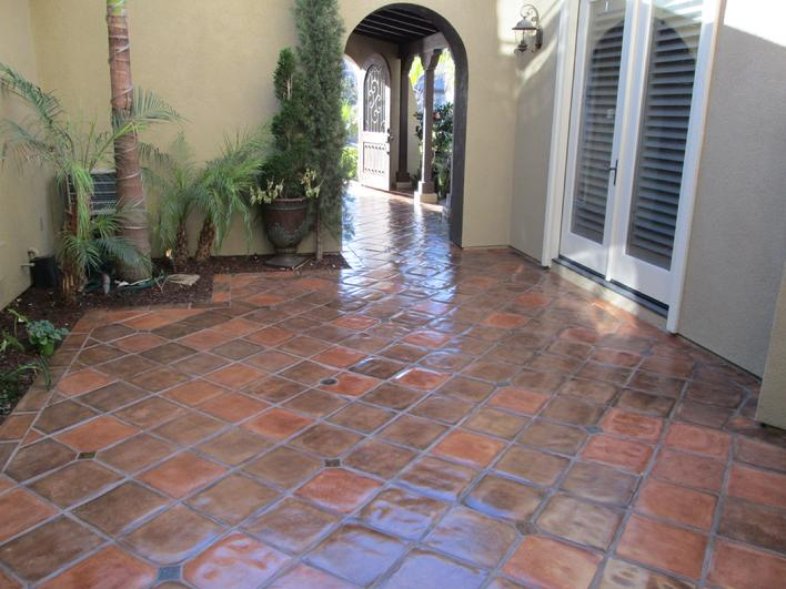 ARTO BRICK CONCRETE 12 INCH TILES JOSIE BLEND WITH SUPER HIGH SHEEN COATING