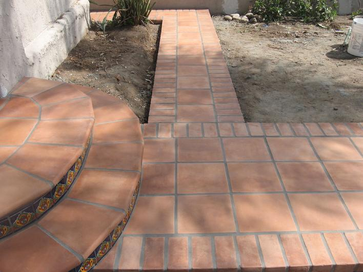 Pin by peggy hoehne on southwest style spanish for Cement tile installation