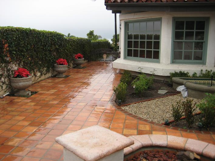 High Sheen Saltillo Tile Patio San Go Fallbrook La Jolla Rancho Santa Fe Bernardo Poway