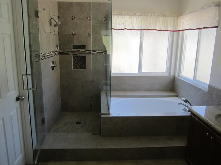 AND THE INSTALLATION OF SEAGRASS LIMESTONE U0026 GLASS ACCENT TILES FOR THE SHOWER  WALLS U0026 TUB TIE IN. WE ALSO DID CUSTOM BULLNOSING FOR ALL ...